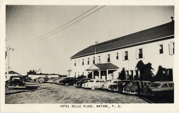 Hôtel Belle Plage au temps de M. Ludger Caron, de 1945 à 1951