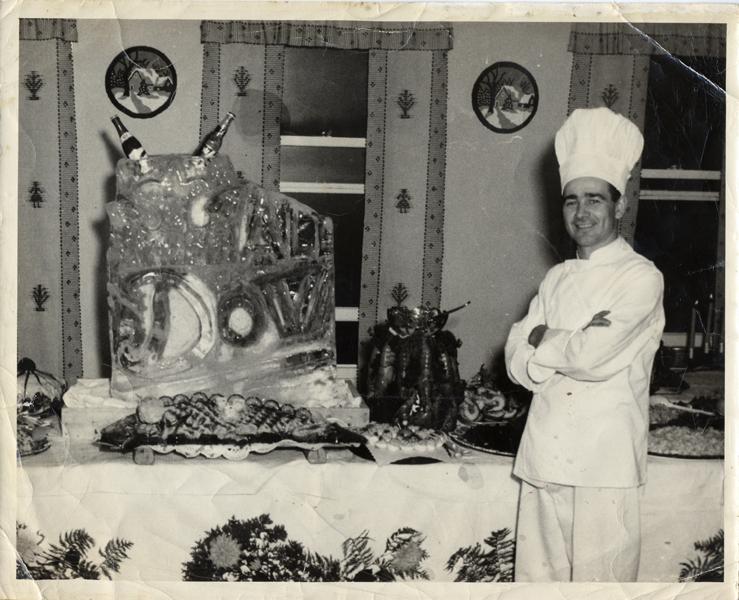 Hôtel Belle Plage, le chef M. Raoul Roux, de 1953 à1978