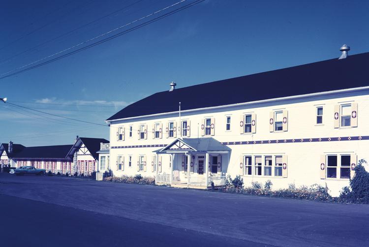 Hôtel Belle Plage au temps de la Famille Roux, début des années 70